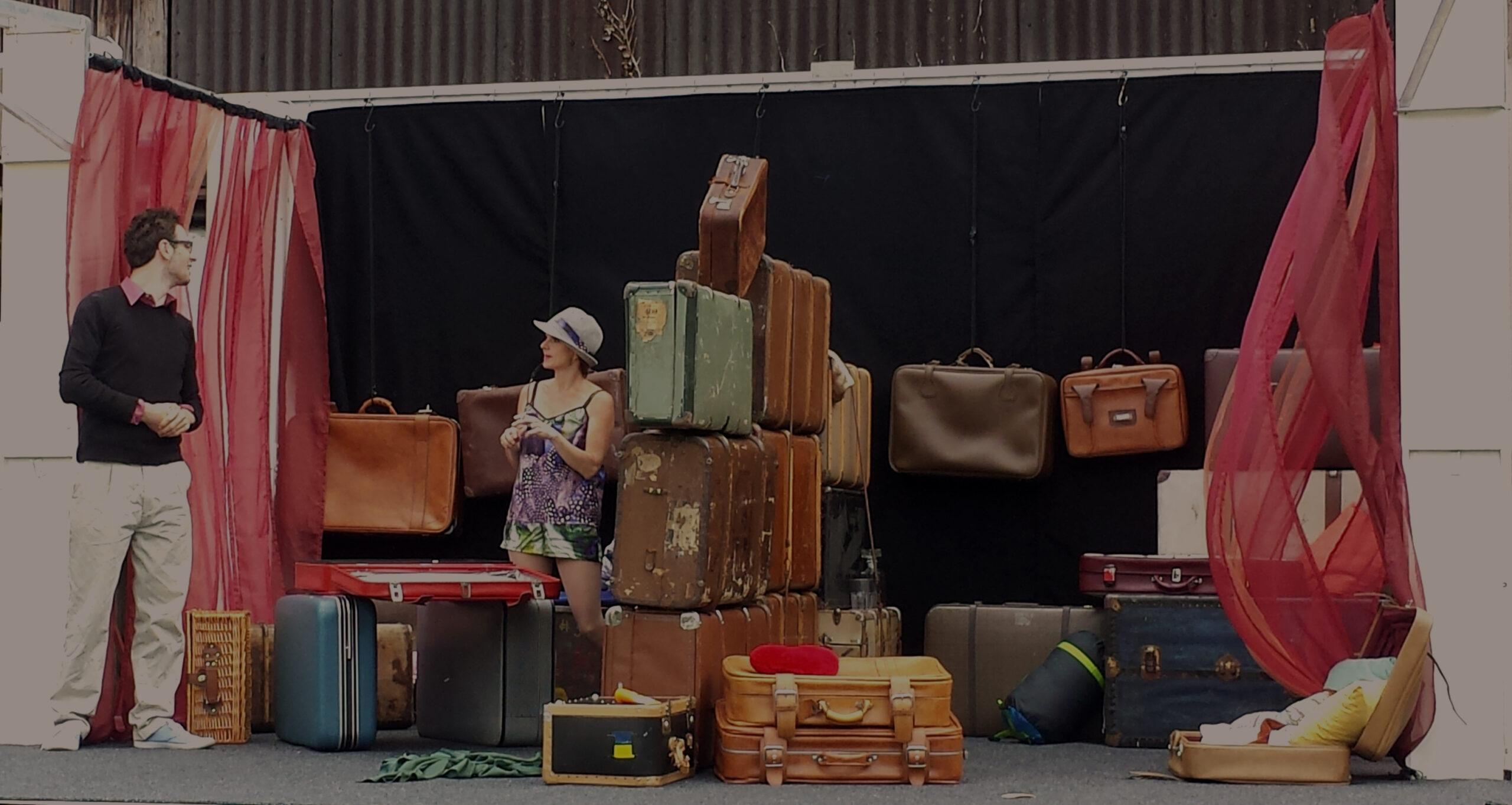 """""""Die Hochzeitsreise"""" 2017, Bühnenbild von Mara Lena Schönborn, Foto: Mara Lena Schönborn"""